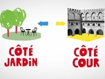 Replay Karambolage - l'expression : cour et jardin