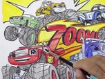 Replay 1, 2, 3... Coloriage ! | Blaze et les Monster Machines | Zoom et Vroum | Episode entier